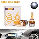 Image of 9006 9012 HB4 LED Headlight Bulbs 12000LM 120W 6000K Cool White Conversion Kit - Low Beam/High Beam/Fog Light - Plug & Play All-in-One 2 Yr Warranty (Pair)