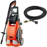 ブラックアンドデッカー(BLACK+DECKER) 1200W 高圧洗浄機 ワゴンプラス+8m延長高圧ホース オレンジ・黒 PW1700SPE