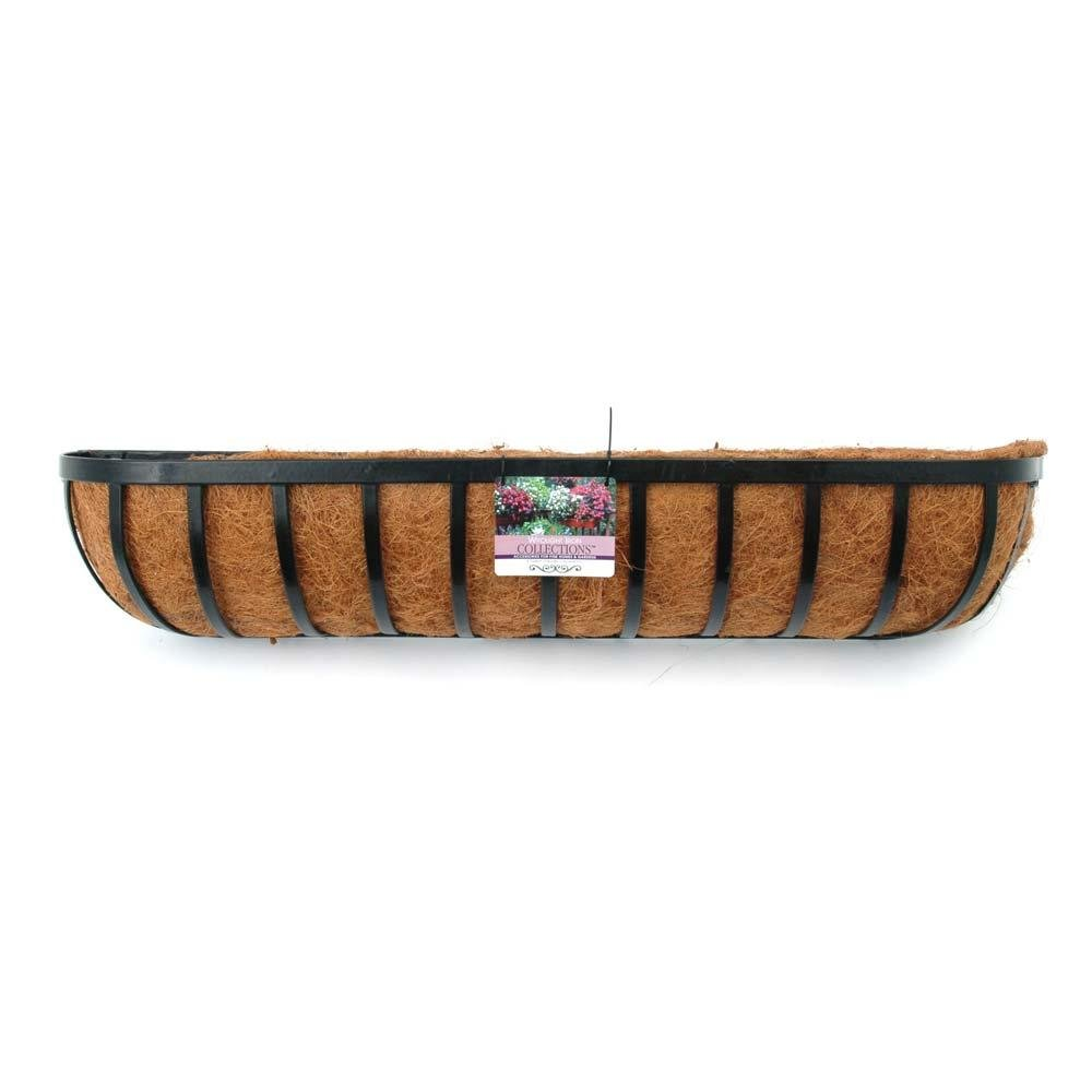 24'' Window Box, Wall Trough/Planter with Coconut Liner