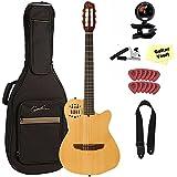 Godin ACS Slim Cedar Natural Nylon String A/E guitarVault Package 032167