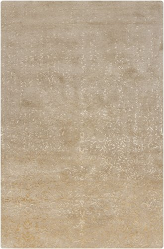 Chandra 39613 Patterned Rectangular Contemporary Area Rupec Rug, 5' by 7'6, Beige