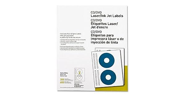 Amazon.com : MyOfficeInnovations 3254512 CD/DVD Labels Laser ...