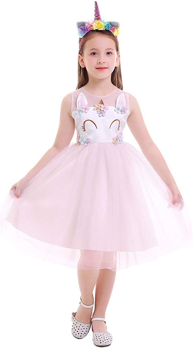 OBEEII Niñas Disfraz de Navidad Halloween Vestido Princesa ...