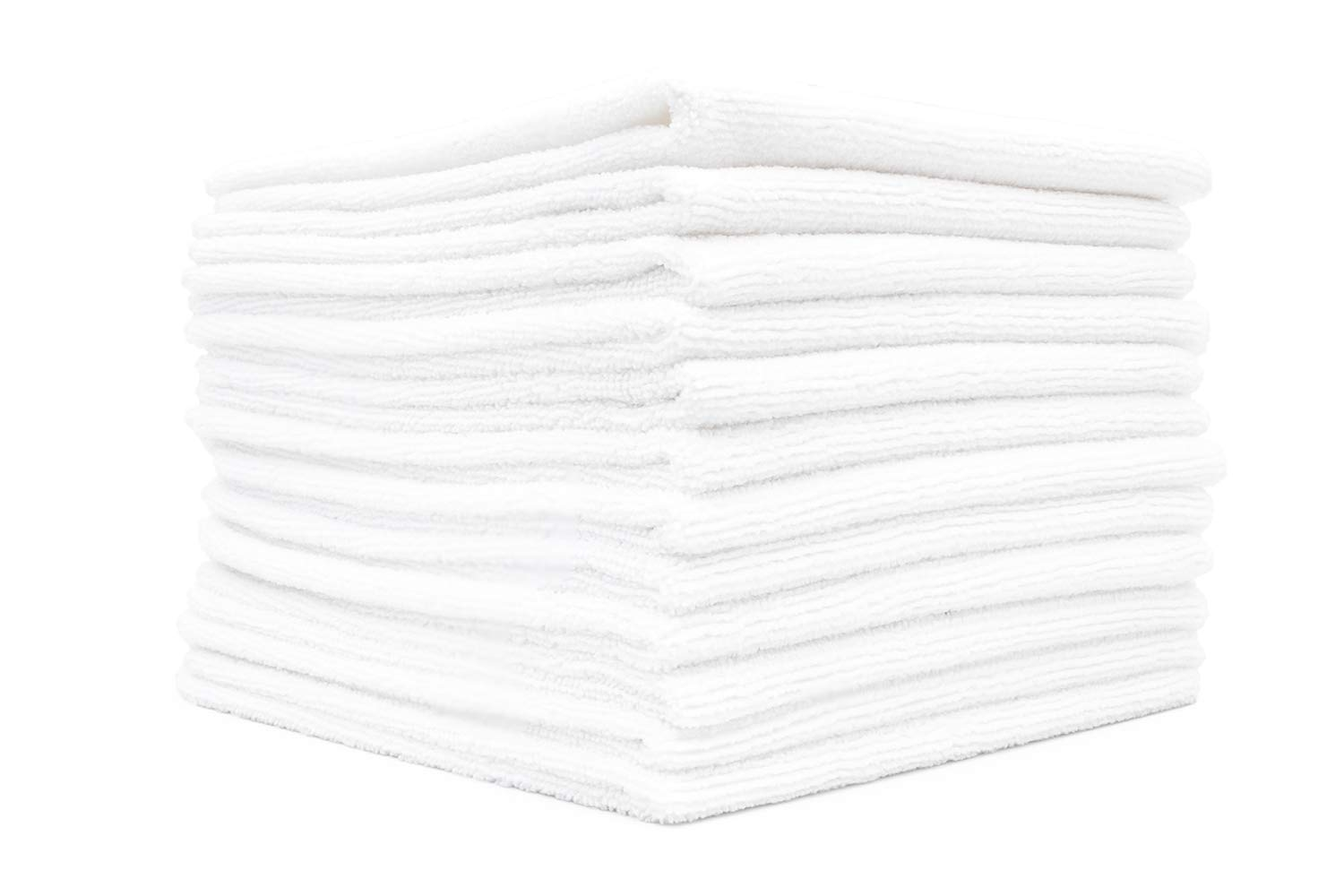 THE RAG COMPANY 16 in x 16 in LINT-Free 12-Pack Commercial Grade All-Purpose Microfiber Highly Absorbent Streak-Free Cleaning Towels Grey