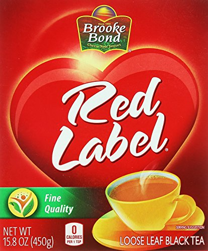 Brooke Bond, Red Label Loose Leaf Black Tea, 450 - Loose Red Tea Label
