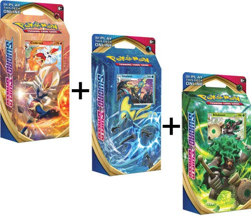 Pokemon Sword and Shield All 3 Theme Decks: 60 Cards Each, 180 Total Cards!