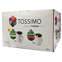 Tassimo Nabob T-Discs Variety Pack, 84 Count 28x-Breakfast (Extra Large Serving Size) and 56x-100% Columbian