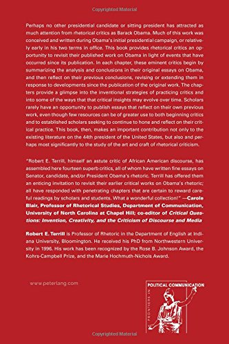 Reconsidering Obama: Reflections on Rhetoric (Frontiers in Political Communication)