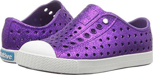 native Kids Shoes Baby Girl's Jefferson Bling Glitter (Toddler/Little Kid) Starfish Bling/Shell White 5 M US Toddler -
