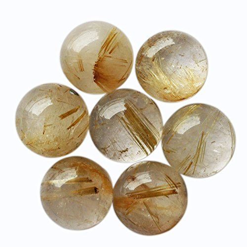 15 Mm Gemstone - 15MM Round Shape, Best Quality Golden Rutile Cabochon, Calibrated, Gemstone From Brazil, Wholesale Supplier, Jewelry Gemstone, Smooth Cabochon,