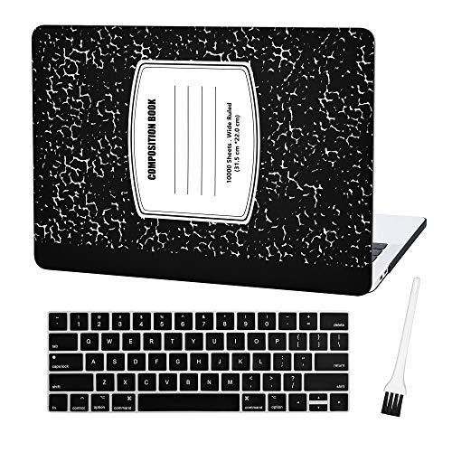 Plastic Rubberized Keyboard Notebook Pattern Black