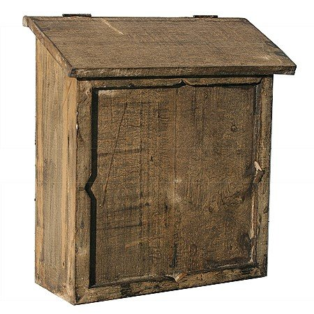 Country Style Aged Wood Letter Box Antique Finish
