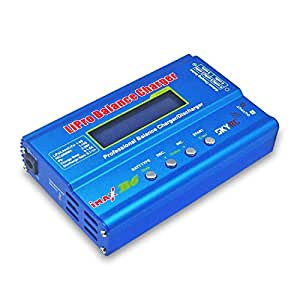 Skyrc Imax B6 Professional Rapid Lipro Balance Charger/discharger with Blue Color Drop-proof Easy to Use Aluminium Alloy Shell for Multi-axis Aircraft/Car Model/Model Airplane LiPo/Lilon/LiFe/NiCd/NiMH Batteries