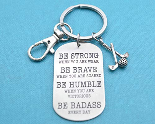 Golf keychain. Golf Gifts. Golf Mom. Be Badass Everyday. Golf gifts for men. Golf team. Hole in One.