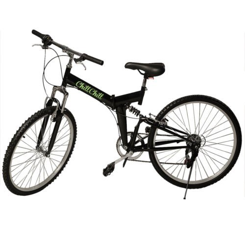New 26″ Folding 6 Speed Mountain Bike Bicycle School Sport Black Shimano Parts Review