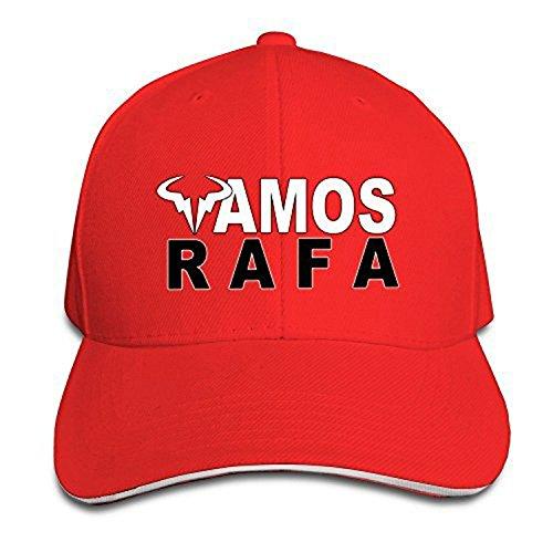 Rafael A Nadal Rafa H Vamos Logo Unisex Baseball Cap Adjustable Premium (Red)