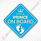 Little Prince On Board Vinyl Decal Bumper Sticker Baby Boy Sticker Car Truck Van Window Sticker Self Adhesive Vinyl Car Sticker Crown Sticker