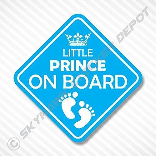 Little Prince On Board Vinyl Decal Bumper Sticker Baby Boy S