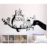 Tatuaggio adesivo da parete Il Mio Vicino Totoro, Vinile, nero, Medium