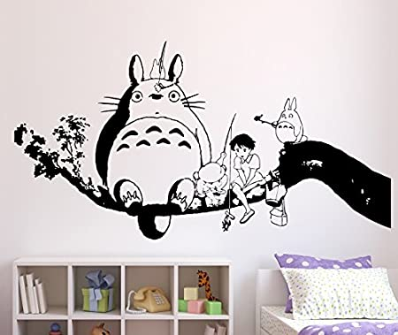 Wall Sticker My Neighbor Totoro, Vinyl, Black, Large
