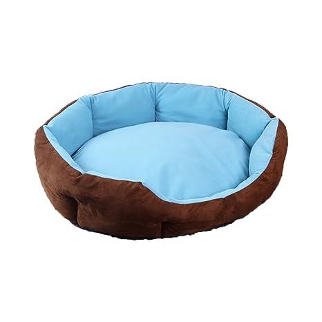 DSAQAO Cama Perro Oval Suave de Lujo, Plegable Nido Camas Perro Cama del Gato del