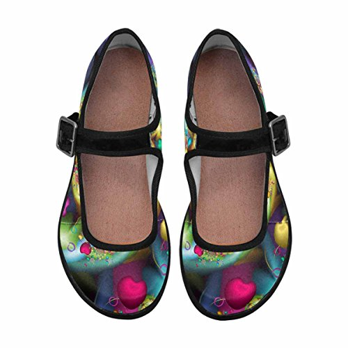 Mary Comfort Casual Womens InterestPrint Jane 4 Walking Shoes Flats Multi UqFaCxxn7