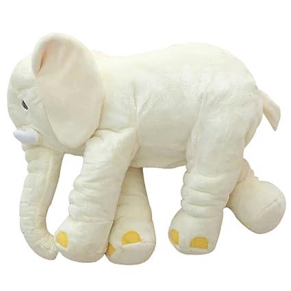 amazon com morismos stuffed elephant plush toy off white 24 inch