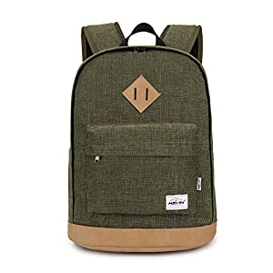 HEXIN Unisex Canvas Backpack School Bag Laptop Bag for Student
