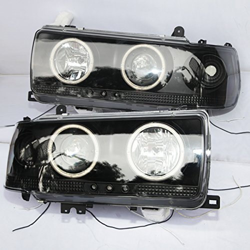Generic for 1990-1997 year prado FJ80 LC80 FZJ80 4500 LED headlights Front lamps Black housing CN
