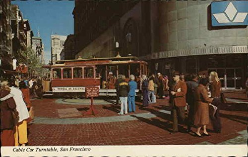 Cable Car Turntable, Powell and Market Street San Francisco, California Original Vintage - And Powell Francisco San Market Street