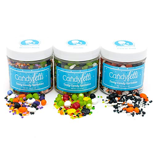 Halloween - Candyfetti Candy Sprinkle Collection - Beautiful Sprinkles that actually taste -