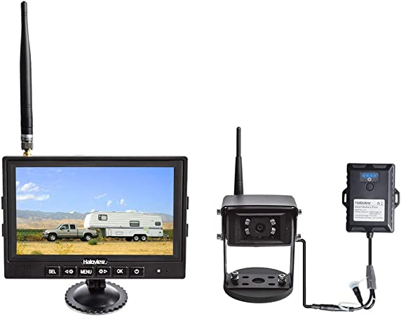 Haloview MC7108 Kit Wiring-Free Wireless High Definition Rear View Camera System Portable Kit