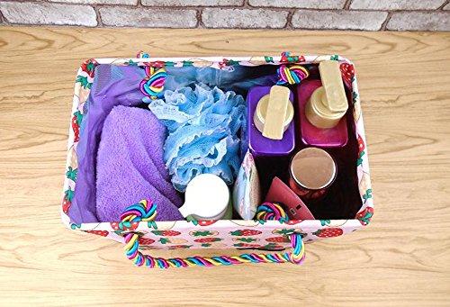 Durable Bolsa Cosméticos Rosado Pattern Strawberry Oxford Storage De Shoping A Resistente Almacenamiento La Travel Cloth Wash Impermeable Aikesi Suciedad Bag Multifunción qtzZx0R