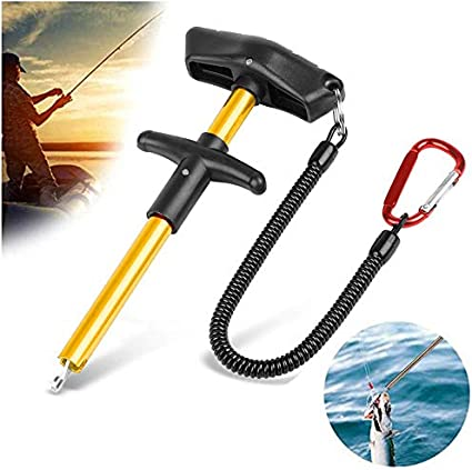 Portable Fish Hooks Removal Tools Squeeze-Out Aluminum Extractor with T-Handle for Sea Fishing Tackle 5 Colors Available Easy Fishing Hook Remover Tool
