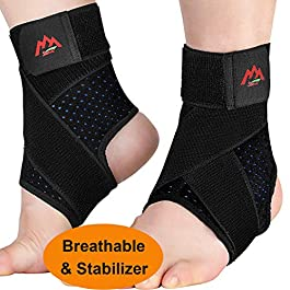 Ankle Brace, 2PCS Ankle Braces for Men & Women, Adjustable Compression Ankle Wrap Support for Ankle Protection…