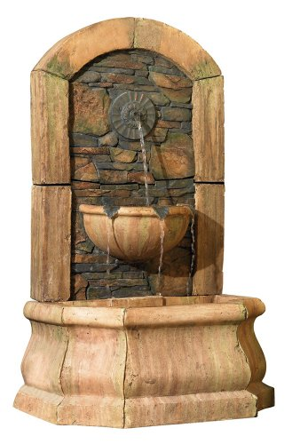 Tuscan Village 50″ High Faux Slate Floor Fountain