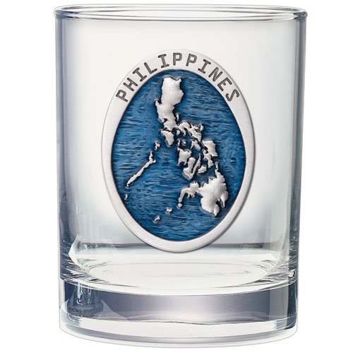 PHILIPPINES MAP 14 OZ DOUBLE OLD FASHIONED - Philippines Frame Eyeglasses