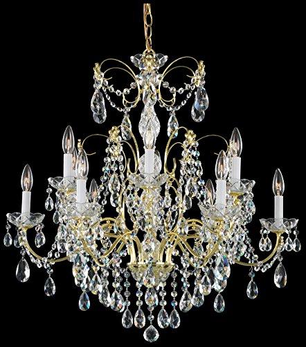 - Schonbek 1596-23H Swarovski Lighting Madison Chandelier, Etruscan Gold