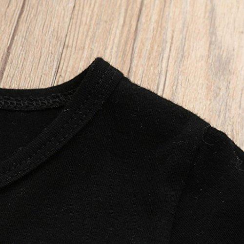 Omiky® Kinder Baby Jungen Brief T-Shirt Oberteile + Camouflage Shorts Outfits Kleidung Set Schwarz