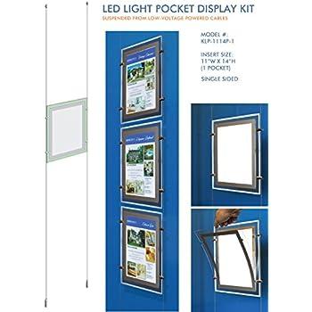Suspended LED Light Pocket for Real Estate Window Displays