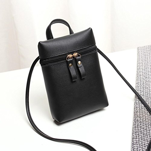 Mini by Shoulder Chic Mini Handbags Girls Bags Inkach Womens Cross Black Bag Messenger Body Square Small Coin Purses wIqIPaz6F