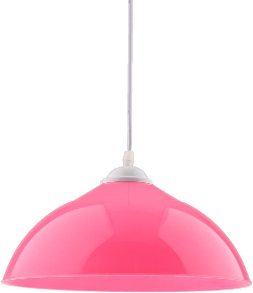 Bar Paralume per Lampada a Sospensione Semicircolare Decorativo Lamp Shade per Cucina Arancione Ristorante