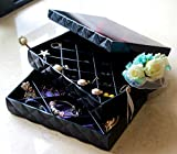 espresso oster - CECIINION Two-layer Jewelry Box Organizer Display Storage Case, Jewelry Treasure Box (Black)