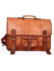 Vintage Handmade Leather Messenger Bag for Laptop Briefcase Best Computer Satchel School distressed Bag