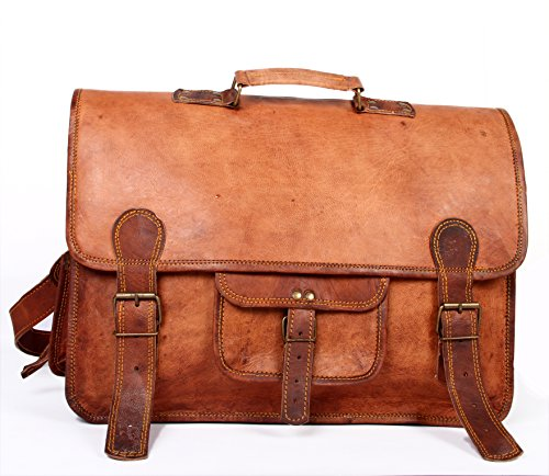Handmade Messenger Briefcase Computer distressed product image