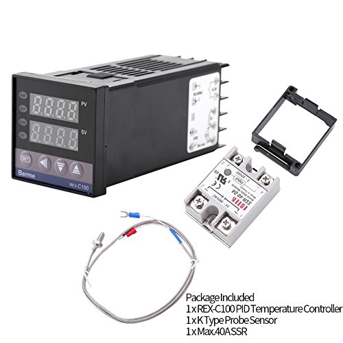 0℃~1300℃ Alarm REX-C100 Digital LED PID Temperature Controller Thermostat Kits AC110V-240V by Walfront (Image #7)