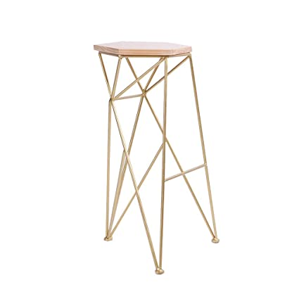Excellent Amazon Com Hbjp Wrought Iron Geometric Bar Stool Cafe Lamtechconsult Wood Chair Design Ideas Lamtechconsultcom