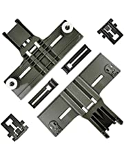 6 Pcs W10350375(2pc) W10195839(2pc) W10195840(2pc) UPGRADED Dishwasher Top Rack Adjuster Compatible with Whirlpool Kitchenaid Kenmore Replaces AP5957560 W10712395 W10250159 3516330 W10712395VP
