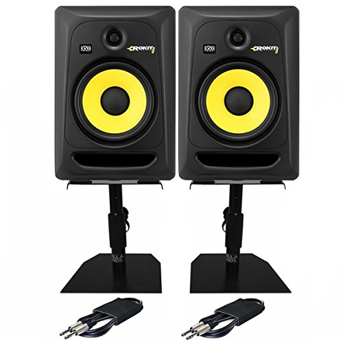 KRK Rokit RP8 G3 8' Active DJ Studio Monitor Speakers PAIR with Stands &...