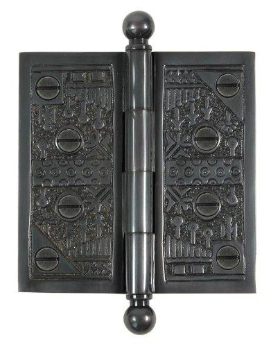 Brass Elegans WC008DBZ Solid Brass Windsor Design 3-Inch Decorative Door Hinge with Brass Screws, Dark Bronze Finish (Solid Windsor Brass Finial)